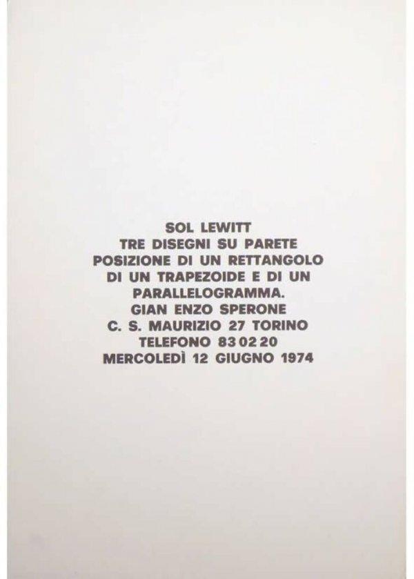 [Sol Lewitt : tre disegni su parete...]