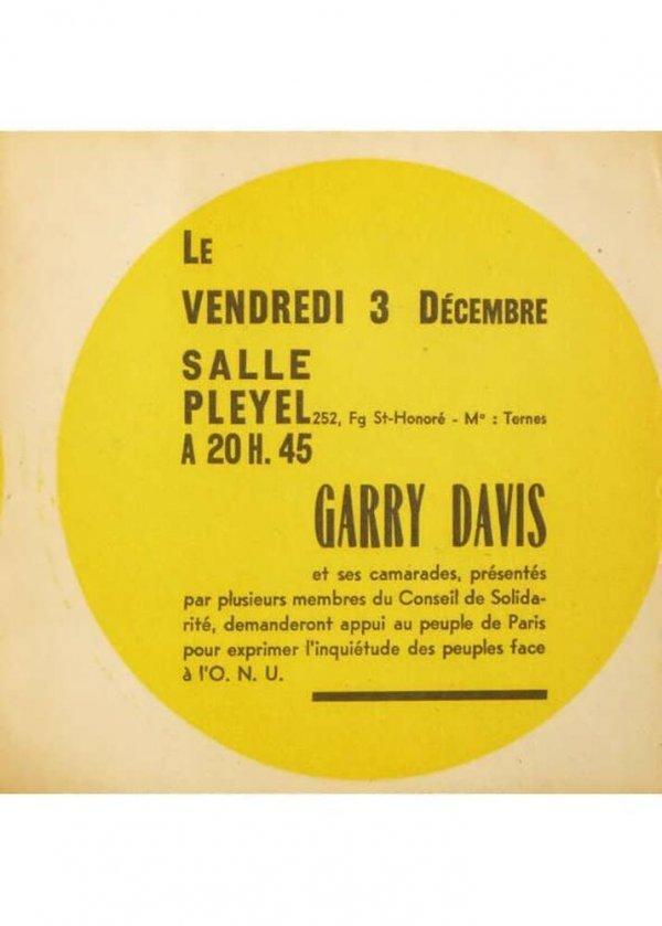 [Le vendredi 3 Décembre : Garry Davis et ses camarades, présentés par plusieurs membres...]