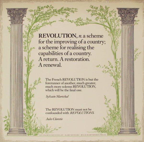 Revolution / Ian Hamilton Finlay, Gary Hincks