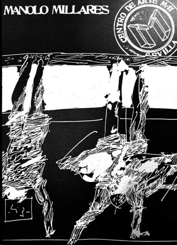 Dibujos y pinturas sobre papel de Manolo Millares : Centro de Arte M-11, Sevilla : noviembre-diciembre 1974 / documentación y coordinación Juan Manuel Bonet ; diseño del catálogo Alberto Corazón