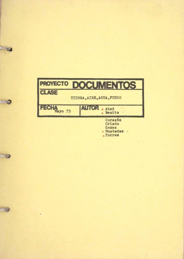 Proyecto Documentos : tierra, aire, agua, fuego