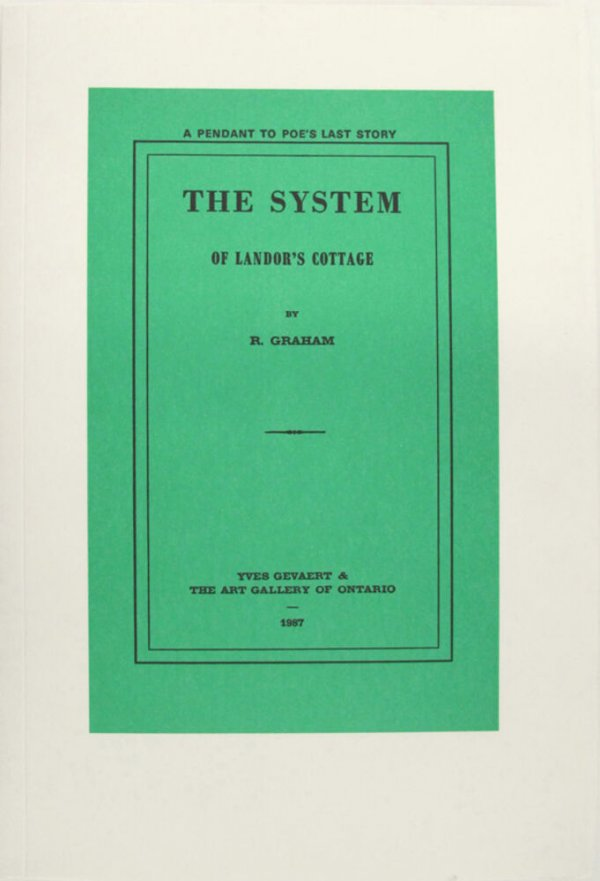 The system of Landor's cottage : a pendant to Poe's last story / by R. Graham
