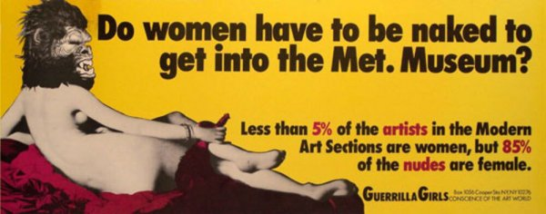 Do women have to be naked to get into the Met. Museum?