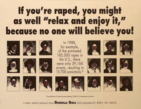 """If you're raped, you might as well """"relax and enjoy it,""""  because no one will believe you!"""