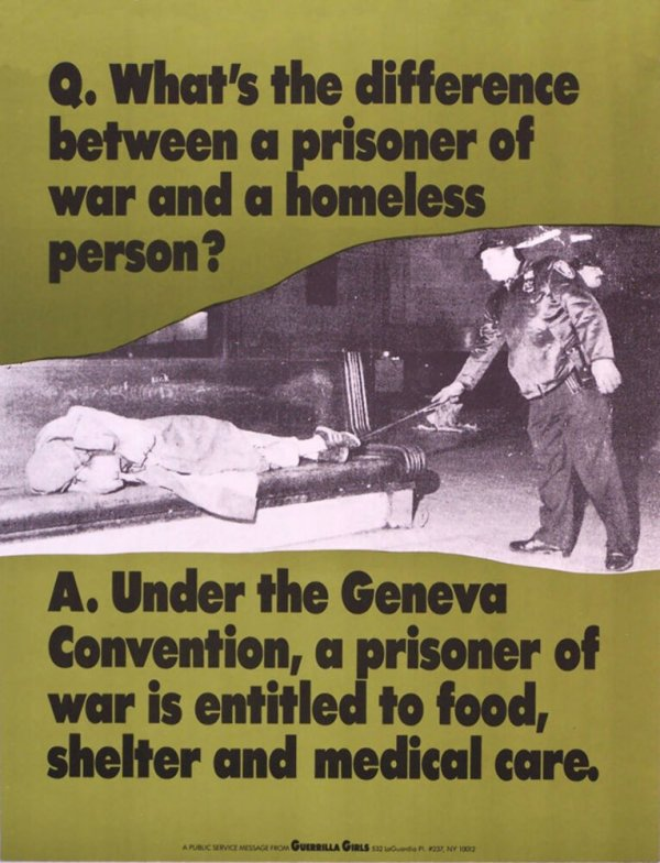 Q. What's the difference between a prisoner of war and a homeless person?