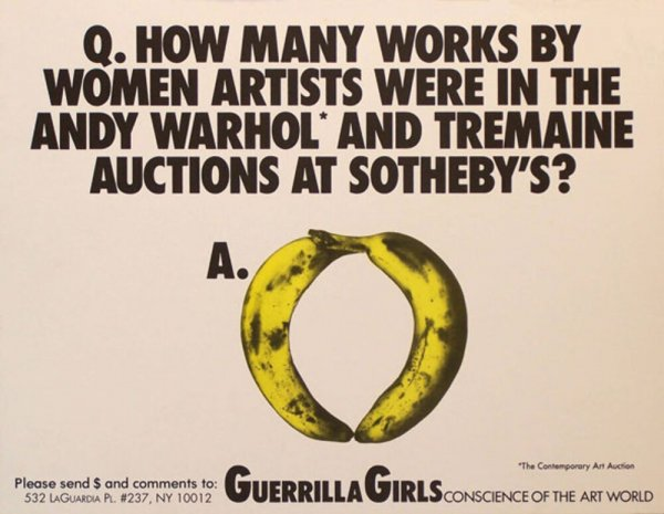 Q. How many works by women artists were in the Andy Warhol* and  Tremaine auctions at Sotheby's?