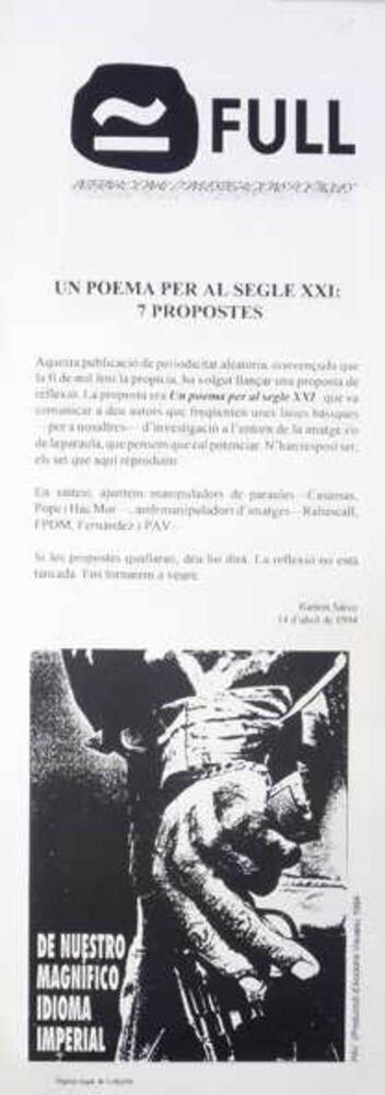Full : internacional d'investigacions poètiques = international of poetics research
