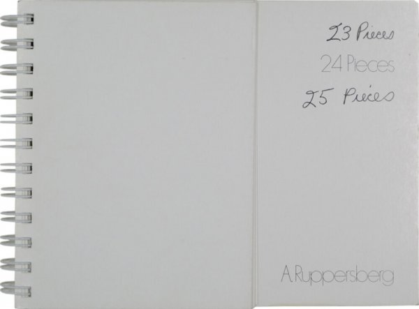 23, 24 & 25 pieces / Allen Ruppersberg ; with texts by = contributions de Liam Gillick, Christophe Cherix