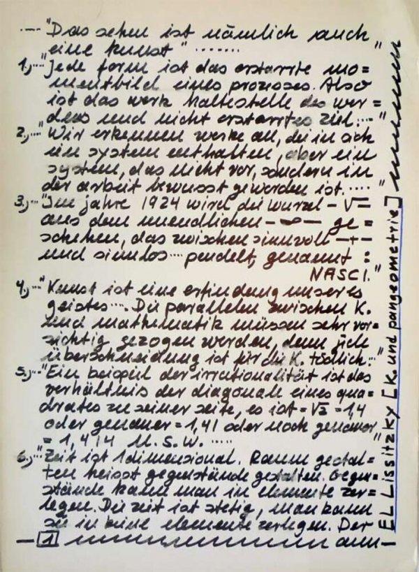 El Lissitzky : art and pangeometry = El Lissitzky : Kunst und Pangeometrie / Darboven, Hanne