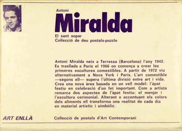 Antoni Miralda : el sant sopar : col·lecció de deu postals-puzzle / [text: Victoria Combalia]