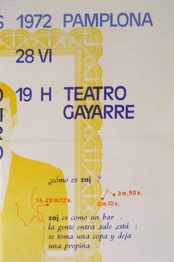 Encuentros, 1972, Pamplona, 28 VI : Juan Hidalgo, Walter Marchetti, Esther Ferrer, concierto