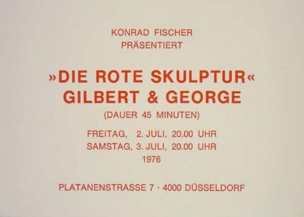 [Gilbert & George : die rote skulptur]