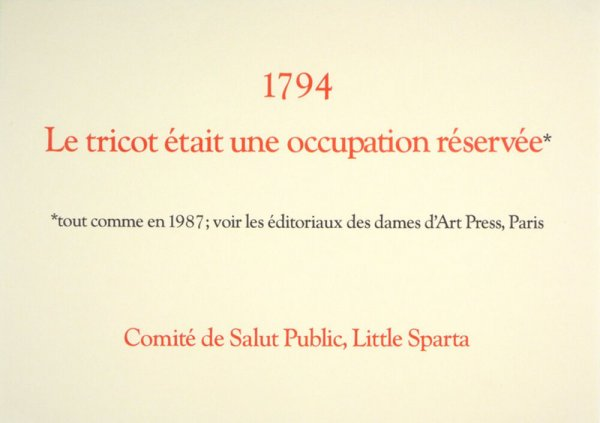 1794 : le tricot était une occupation réservée