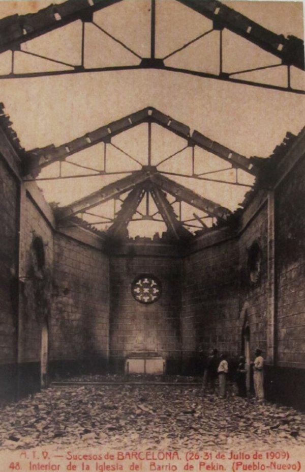 Interior de la iglesia del barrio de Pekin. (Pueblo Nuevo)