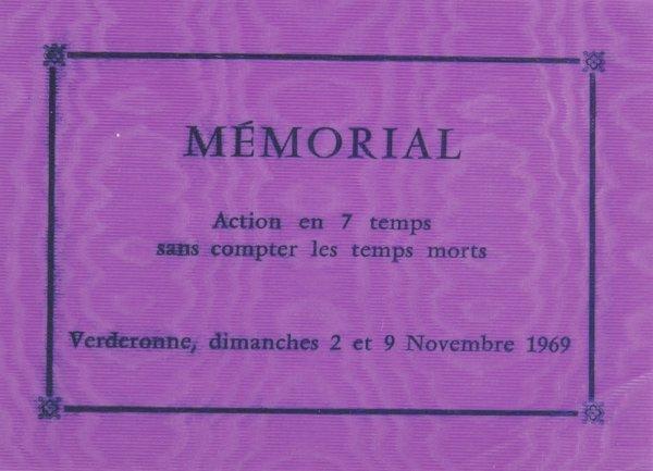 Mémorial : action en 7 temps sans compter les temps morts