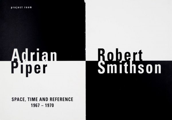 Adrian Piper : space, time and reference, 1967-1970. Robert Simthson