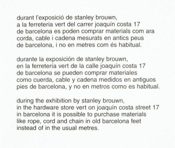 durant l'exposició de stanley brouwn [...]