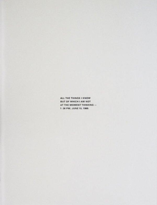 Robert Barry, Stedelijk Museum Amsterdam, September 13-October 20, 1974