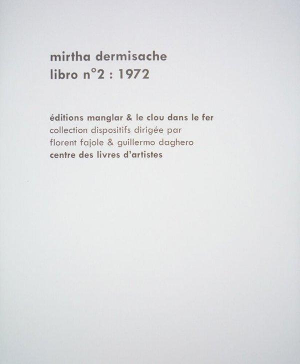 Libro nº 2, 1972  / Mirtha Dermisache