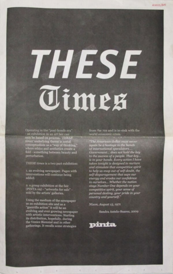 These times / [curated by Sandra Antelo-Suarez)