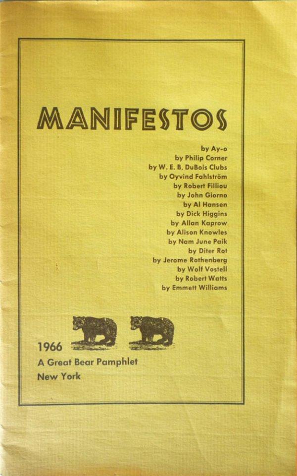 Manifestos / by Ay-o ... [et al.]