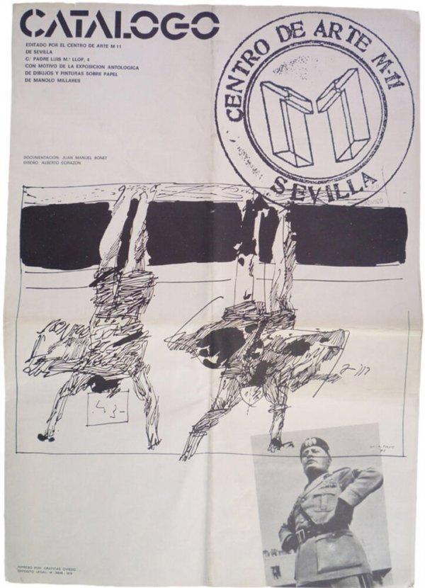 Catálogo : con motivo de la exposición antológica de dibujos i pinturas sobre papel de Manolo Millares / [documentación: Juan Manuel Bonet ; diseño: Alberto Corazón]