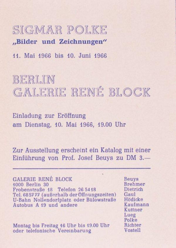 Sigmar Polke : Bilder und Zeichnungen / Berlin Galerie René Block