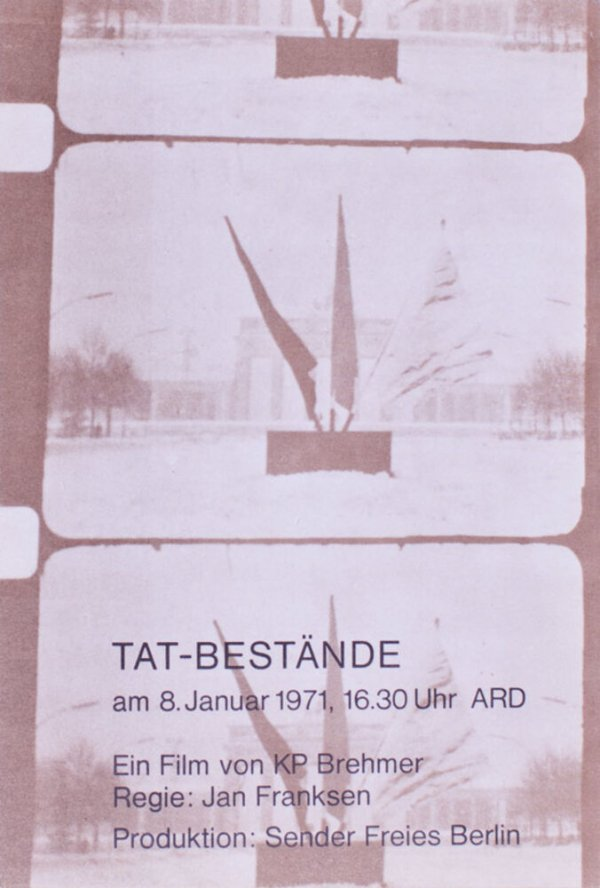 Tat-Bestände : Ein Film von KP Brehmer