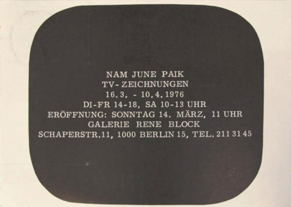 Nam June Paik : TV - Zeichnungen