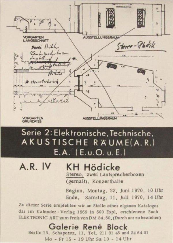 A.R. IV KH Hödicke : Stereo, zwei Lautsprecherboxen (gemalt), Konzerthalle