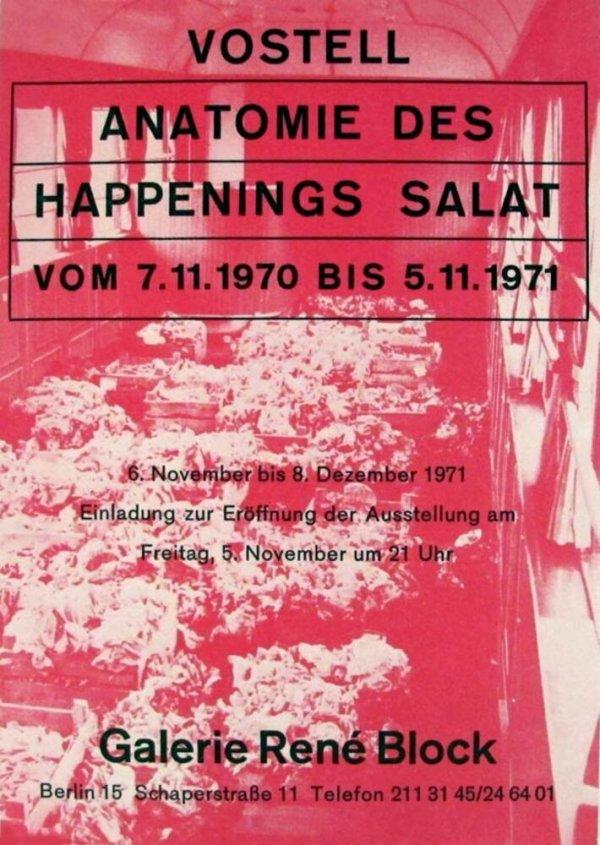 Vostell : Anatomie des Happenings Salat : vom 7.11.1970 bis 5.11.1971 / Galerie René Block