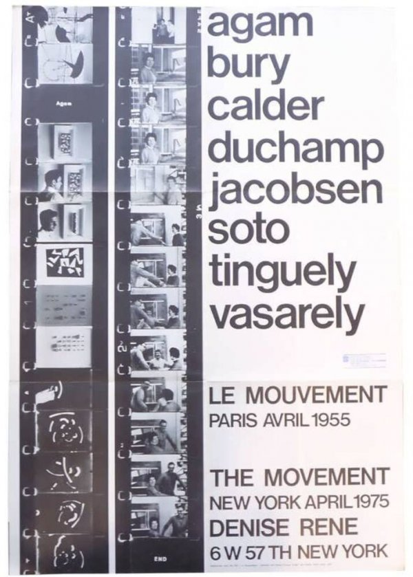 Le mouvement : the movement : Paris, avril 1955 : Agam, Bury, Calder, Duchamp, Jacobsen, Soto, Tinguely, Vasarely