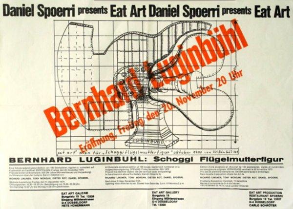 Daniel Spoerri presents eat art. Bernhard Luginbühl : Schoggi Flügelmutterfigur