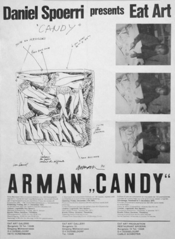 "Daniel Spoerri presents eat art : Arman ""Candy"""
