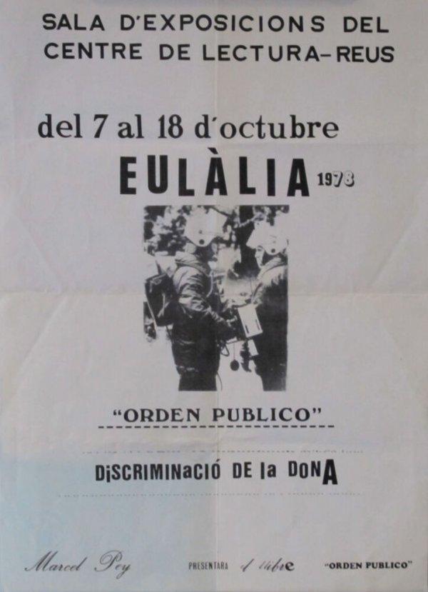 """Eulàlia 1978 : """"Orden público"""" : Discriminació de la dona"""