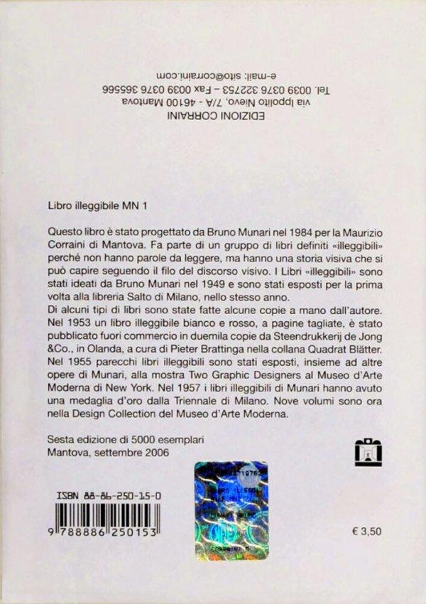 Libro illeggibile, MN 1 / di Bruno Munari