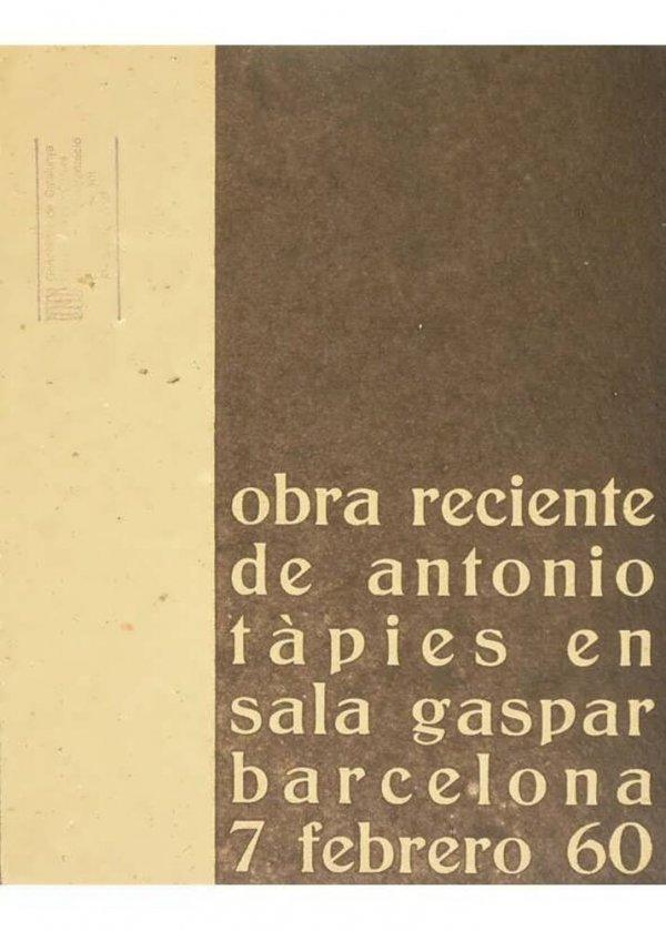 Obra reciente de Antonio Tàpies en Sala Gaspar : Barcelona, 7 febrero 60