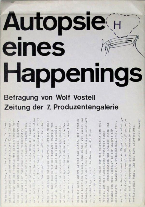 Autopsie eines Happenings : Befragung von Wolf Vostell / [Dieter Hacker]