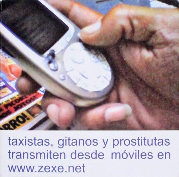 Taxistas, gitanos y prostitutas transmiten desde móviles en www.zexe.net