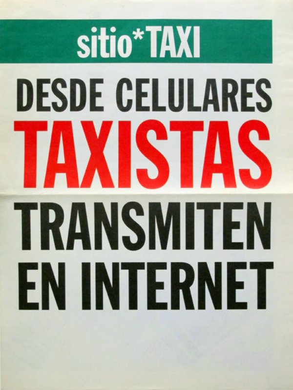Sitio* taxi : desde celulares taxistas transmiten en Internet