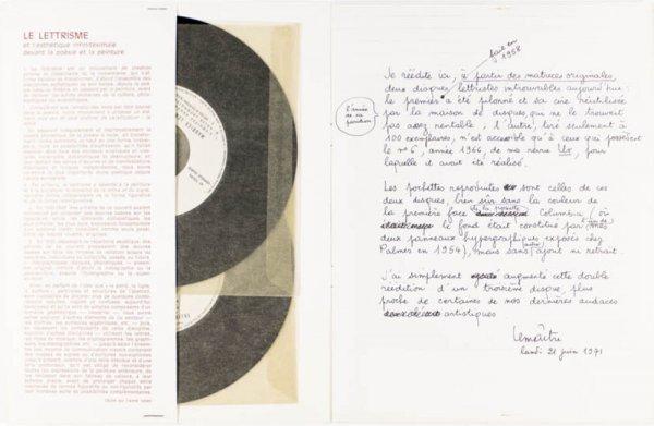 Poèmes et musique lettristes. Oeuvre aphoniste / Maurice Lemaitre