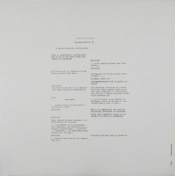 """""""50/70"""" / Bernard Heidsieck"""