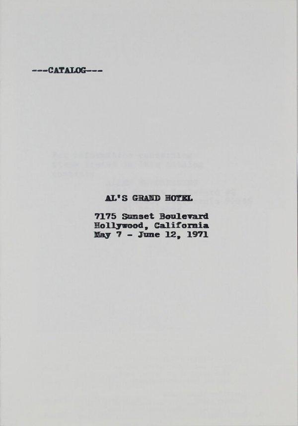Catalog : Al's grand hotel