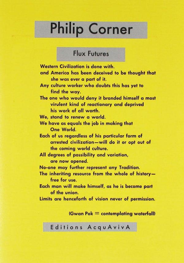 Flux futures / Philip Corner