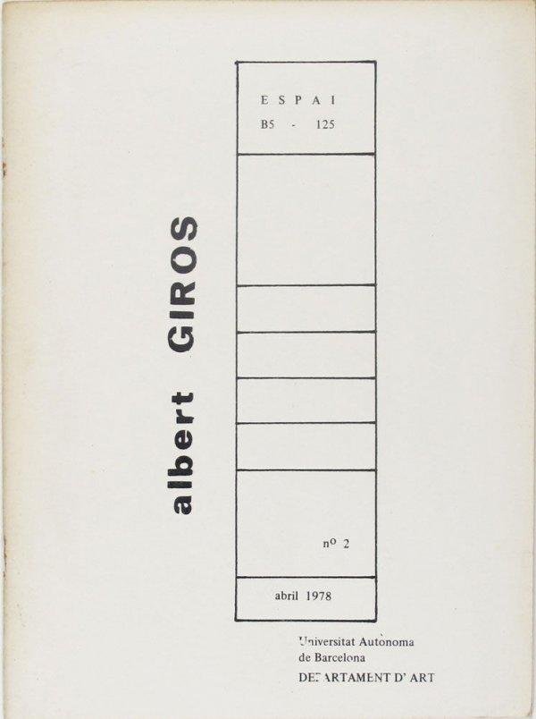 Albert Girós : Espai B5-125