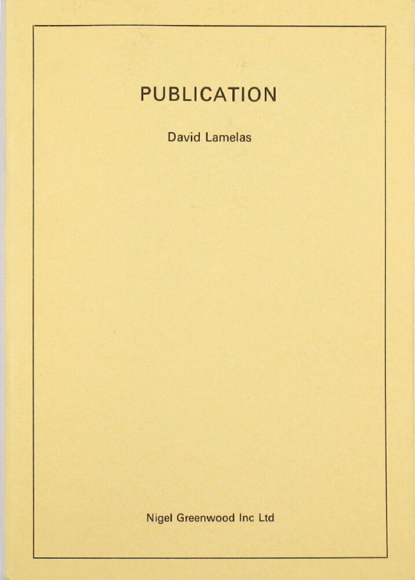 Publication / David Lamelas