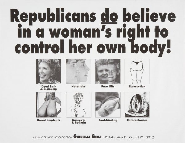 Republicans Do Believe in a Woman's Right to Control Her Own Body!