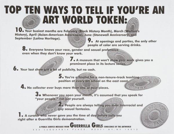 Top Ten Ways to Tell if You're an Art World Token
