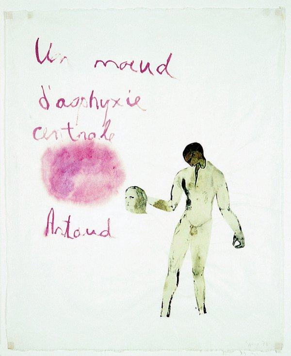 Artaud Painting – Un noeud d'asphyxie centrale