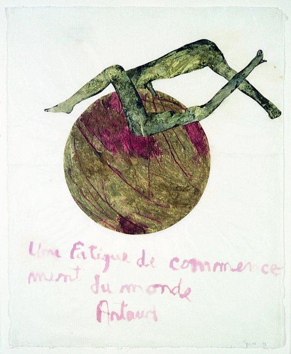 Artaud Painting – Une fatigue de commencement du monde